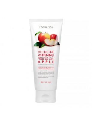 Осветляющий пилинг-гель с экстрактом яблока FarmStay All-In-One Whitening Peeling Gel Apple