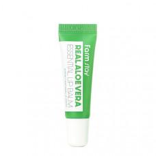 Увлажняющий бальзам для губ с алоэ  FarmStay Real Aloe Vera Essential Lip Balm