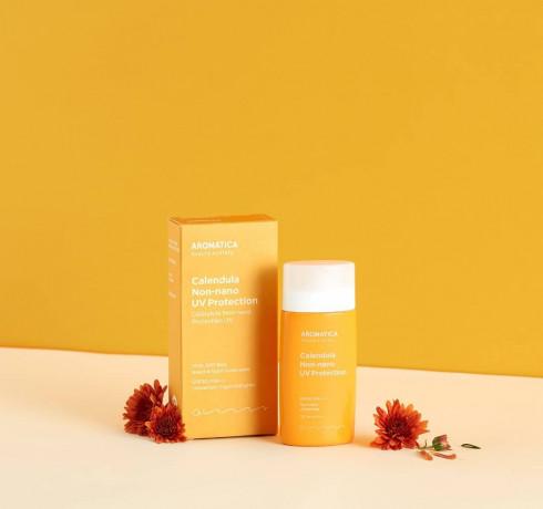 Органический солнцезащитный крем Aromatica Calendula NON-NANO UV Protection Unscented SPF30/PA+++