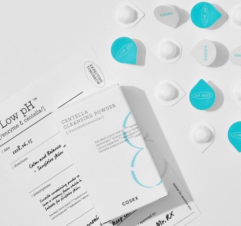 Слабокислотная энзимная пудра с экстрактом центеллы COSRX Low pH Centella Cleansing Powder