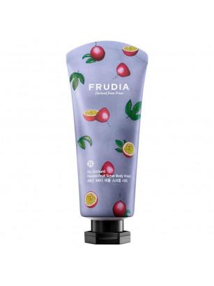 Тонизирующий гель-скраб для душа с маракуйей Frudia My Orchard Passion Fruit Scrub Body Wash