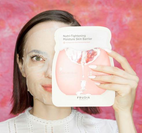 Интенсивно питательная маска с гранатом Frudia Pomegranate Nutri-Moisturizing Mask