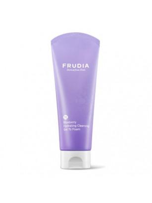 Увлажняющая пенка с черникой Frudia Blueberry Hydrating Cleansing Gel To Foam