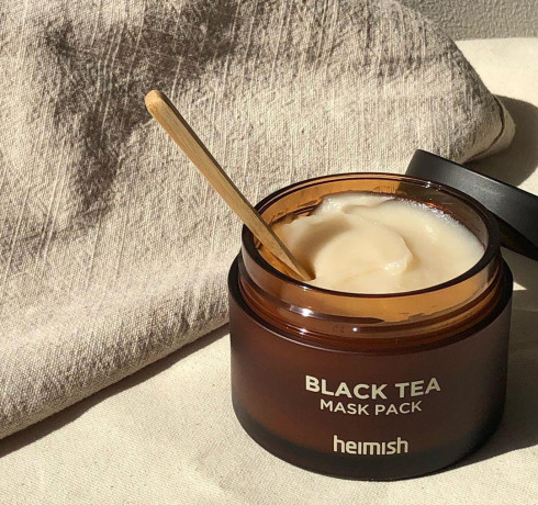 Маска для лица против отеков с экстрактом черного чая Heimish Black Tea Mask Pack (мини)
