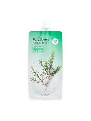 Ночная маска для лица с чайным деревом Missha Pure Source pocket pack Tea Tree