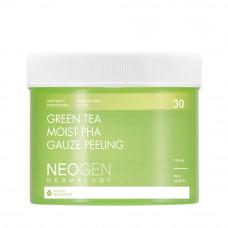 Пилинг-пэды с зеленым чаем Neogen Dermalogy Green Tea Moist PHA Gauze Peeling
