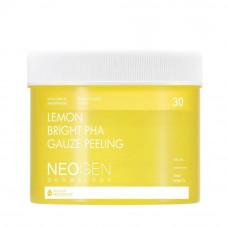 Осветляющие пилинг-пэды с лимоном Neogen Dermalogy Lemon Bright PHA Gauze Peeling