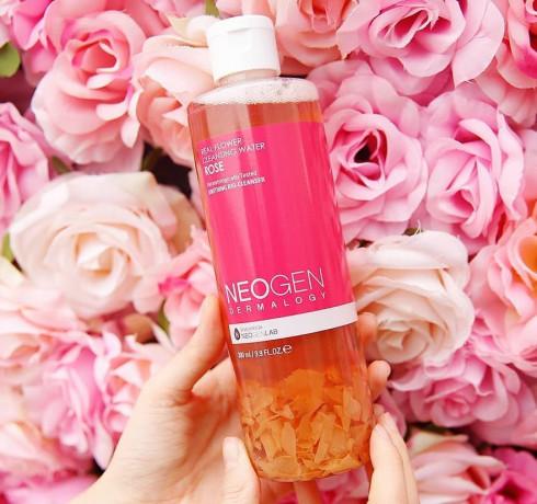 Очищающая вода с экстрактом розы Neogen Real Flower Cleansing Water Rose (Миниатюра)