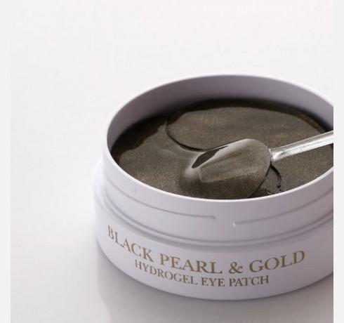 Гидрогелевые патчи для век с чёрным жемчугом Petitfee Black Pearl & Gold Hydrogel Eye Patch