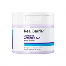Успокаивающие тонер-пэды с азуленом Real Barrier Azulene Ampoule Pad
