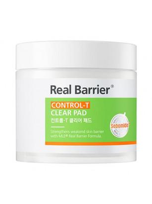 Очищающие пэды с себум контролем Real Barrier Control-T Clear Pad