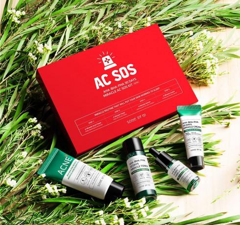 Набор для проблемной кожи с кислотами Some By Mi AC SOS AHA-BHA-PHA 30 Days Miracle AC SOS Kit
