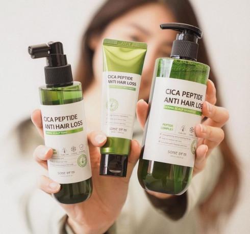 Укрепляющий шампунь с центеллой и пептидами Some By Mi Cica Peptide Anti Hair Loss Shampoo