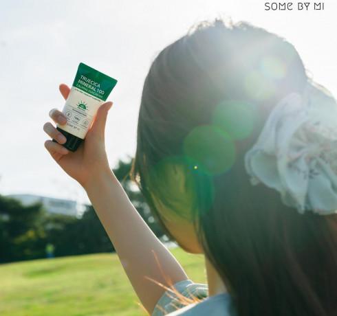 Успокаивающий солнцезащитный крем Some By Mi Truecica Mineral 100 Calming Sun Cream SPF50