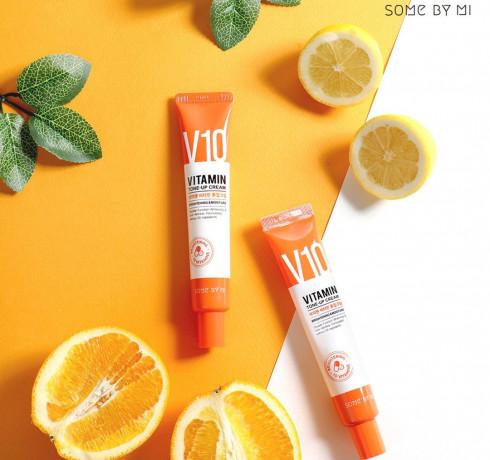 Осветляющий витаминный крем Some By Mi V10 Vitamin Tone-Up Cream