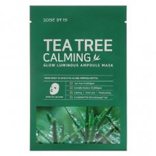 Успокаивающая маска с чайным деревом Some by Mi Tea Tree Calming Glow Luminous Ampoule Mask