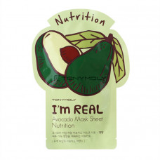 Тканевая маска Tony Moly I`m REAL Avocado Mask Sheet Nutrition